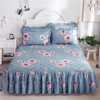 移动端:雲上舒 夹棉床裙单件 床垫保护罩 裙摆35cm 150x200cm