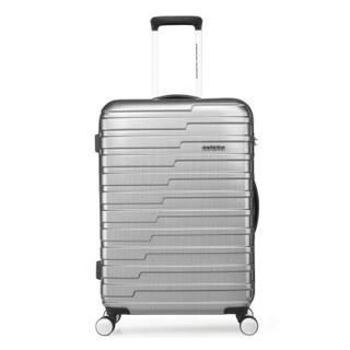 美旅拉杆箱 升级款26英寸条纹4:6智慧开口行李箱男女商务大容量旅行箱 升级BF9哑光灰格色