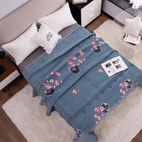 柚菲 水晶绒加厚盖毯毛毯