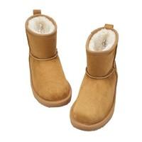 Balabala 巴拉巴拉 女童加绒加厚靴子
