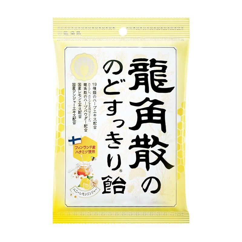 RYUKAKUSAN 龙角散 喉糖  蜂蜜柠檬生姜味 69.3g