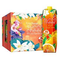 兰雀 sucoocheer 纯鲜橙汁 1L*12盒