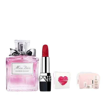 Dior 迪奧 香水彩妝禮盒 7件套(花漾淡香水50ml+#999啞光+肌活蘊能明星體驗5件套)