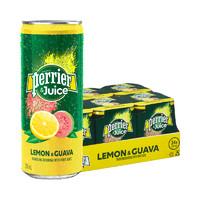 perrier 巴黎水 含气果汁饮料 柠檬番石榴味 250ml*24罐