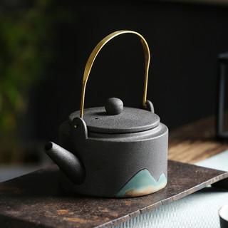 捡漏清仓!日式粗陶功夫茶具套装家用禅意提梁壶茶壶陶瓷家用喝茶