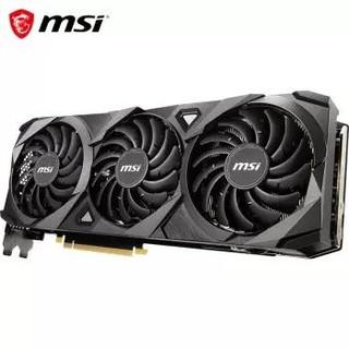 微星(MSI)万图师 GeForce RTX 3090 VENTUS 3X 24G OC 超频版 次旗舰 电竞游戏设计专业电脑显卡