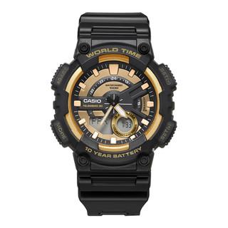 考拉海购黑卡会员 : CASIO 卡西欧 运动系列 AEQ-110W-1A 男士石英手表