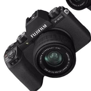 FUJIFILM 富士 X-S10 复古微单电数码照相机 套机 15-45mm 黑色