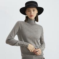 GIRDEAR 哥弟 A300778 100%羊毛纯色女式针织衫