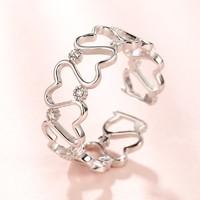 SISI 2401AD035350 莫桑石镶钻戒指