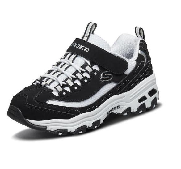 SKECHERS 斯凯奇 儿童休闲熊猫鞋 996212L 黑色/白色 35