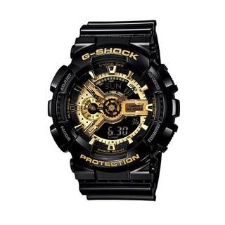 88VIP : CASIO 卡西欧 G-SHOCK系列 GA-110GB-1A  黑金多功能石英手表