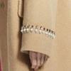 ochirly 欧时力 1GY4342870 女士羊毛混纺大衣 棕色 XS