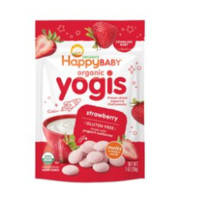 HAPPYBABY 禧贝 055446-9 婴幼儿酸奶溶豆 草莓味28g