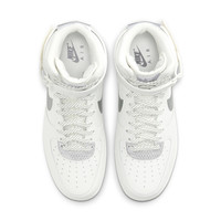 NIKE 耐克  AIR FORCE 1 HIGH 3M 男士运动板鞋 CU4159-100 山峰白/金属银/山峰白/黑 42