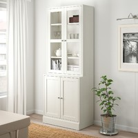 IKEA 宜家 HAVSTA 海思塔 储物组合柜 带玻璃门 81*47*212cm
