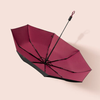 BENEUNDER蕉下纯色双层遮阳伞防晒防紫外线太阳伞晴雨伞两用女 馥郁红(纯色手柄)