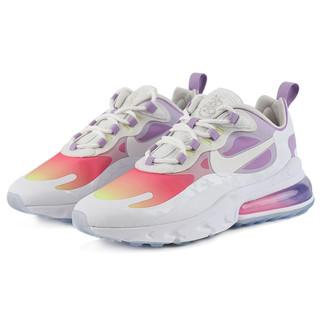 NIKE 耐克 Air Max 270 React 女士休闲运动鞋 CU2995-911 白色/紫粉渐变 35.5