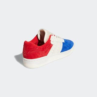 adidas Originals Rivalry Low 中性休闲运动鞋 EF6414 石膏白/浅猩红/皇家蓝 44