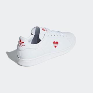 adidas Originals Stan Smith 中性休闲运动鞋 G27893 白色/活力红 40.5