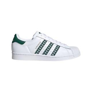 adidas Originals Superstar 中性休闲运动鞋 FZ1968 亮白/绿/金属 42