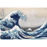 葛饰北斋浮世绘名作复刻版画《神奈川冲浪里》
