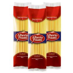 百朵怡(Alberto Poiatti )2号细直面500g/袋*3袋 意大利进口 全麦直条意面方便速食面 *2件