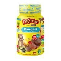 L'il Critters 丽贵 儿童DHA鱼油小熊软糖 60粒/瓶*2瓶