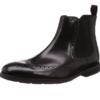 Clarks 其乐 男士纯色低跟皮革套脚休闲短靴 黑色44
