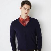 SELECTED 思莱德 419324520 含羊毛冬条纹拼色针织衫