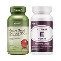 GNC 健安喜 美國進口葡萄籽+維生素E套裝  100粒