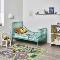 IKEA 宜家 MINNEN 米隆 儿童床 加长床框架 (带床板)80*200cm