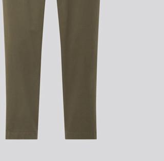 UNIQLO 优衣库 男士简约修身无褶舒适休闲裤422370 橄榄色160/70A