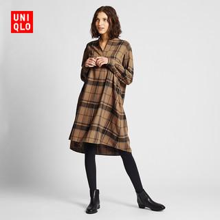 UNIQLO 优衣库 420841 女士法兰绒A字型连衣裙