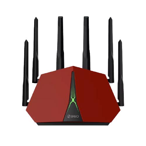 360 V5X 2600M WiFi 5 家用路由器 红色