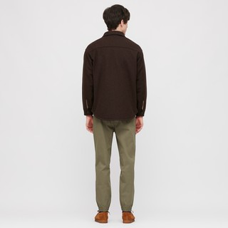 UNIQLO 优衣库 男士直筒修身束脚休闲裤435389 深橄榄色XL