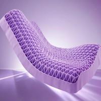 DAPU 大朴 蜂巢释压波浪枕 成人款 浅紫色
