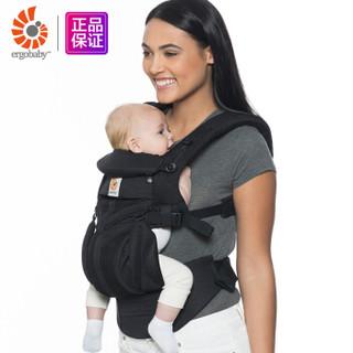 ergobaby 婴儿背带omni全阶段透气款 4种背法抱婴带 黑色瑪瑙 0-48个月