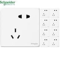 Schneider 施耐德 皓呈 白色错位五孔插座 10只装