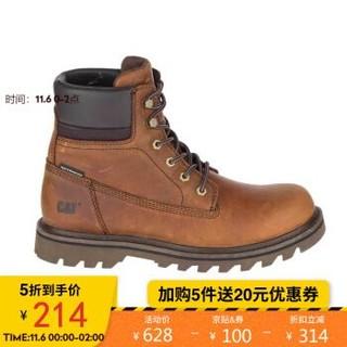 CAT/卡特秋冬款男DEPLETE WP黑色休闲靴P721724I3BDC09 深棕色 40