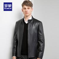 ROMON 罗蒙 S9P074513 男士短款真皮夹克