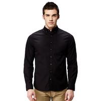 GANT 甘特 DIAMOND G系列男士纯色尖领棉质长袖衬衫303002 黑色S