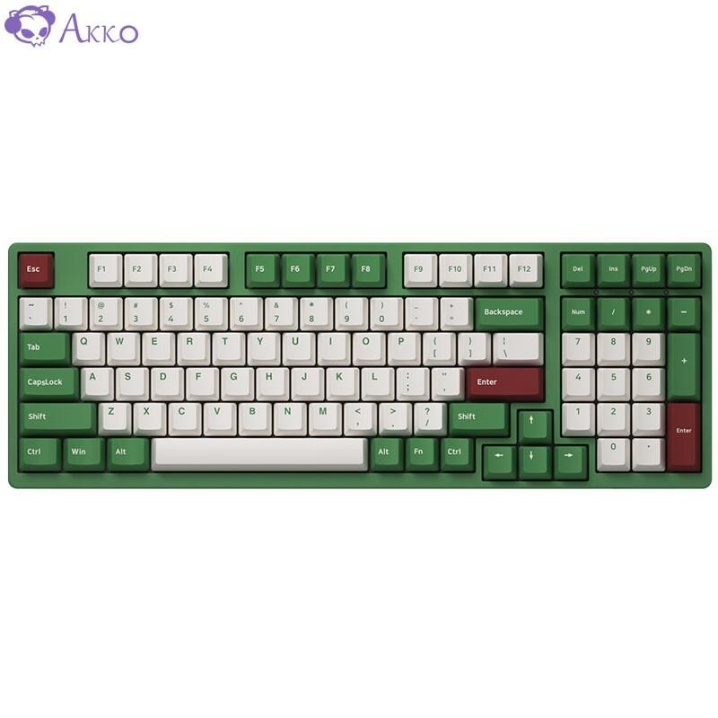 AKKO 3098 DS 红豆抹茶 98键机械键盘 AKKOv2粉轴