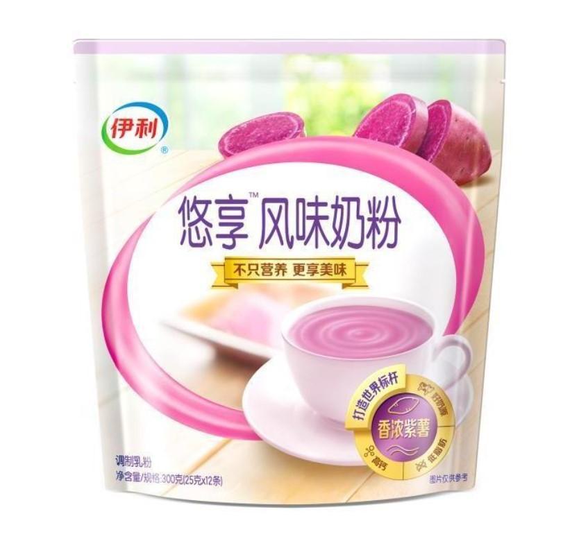 yili 伊利 优享风香浓紫薯味奶粉 25g*12条
