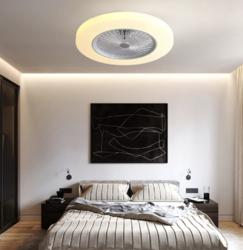 奋本灯饰 隐形吊扇灯电风扇灯家用客厅餐厅卧室吊灯简约LED灯具