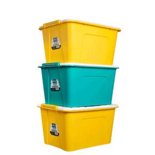 CHAHUA 茶花 68L塑料收纳箱衣服玩具箱子儿童特大号收纳盒家用书籍整理箱颜色随机