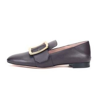 BALLY 巴利 女士棕褐色皮质平底鞋便鞋 JANELLE 440 6228180 5/38码