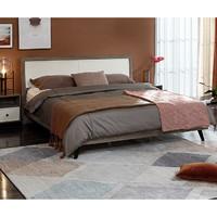 QuanU 全友家居 125605 轻奢橡木纹双人床 1.5m单床