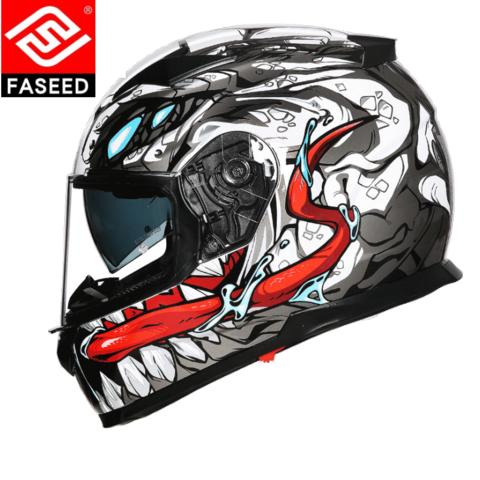FASEED FS-817 摩托车头盔 双镜片全盔