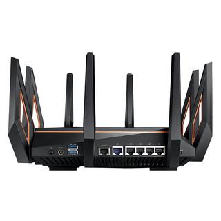 ASUS 华硕 GT-AX11000 双频11000M 千兆家用路由器 WiFi 6(802.11ax)单个装 黑色